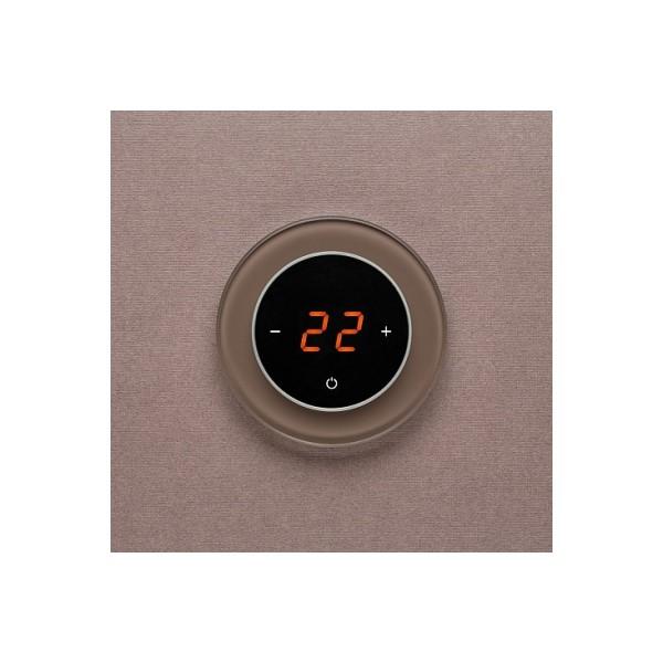 AURA RONDA 7013 BROWN NATURAL - сенсорный терморегулятор для теплого пола