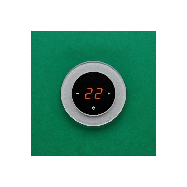 AURA RONDA 9007 ALUMINIUM RICH - сенсорный терморегулятор для теплого пола