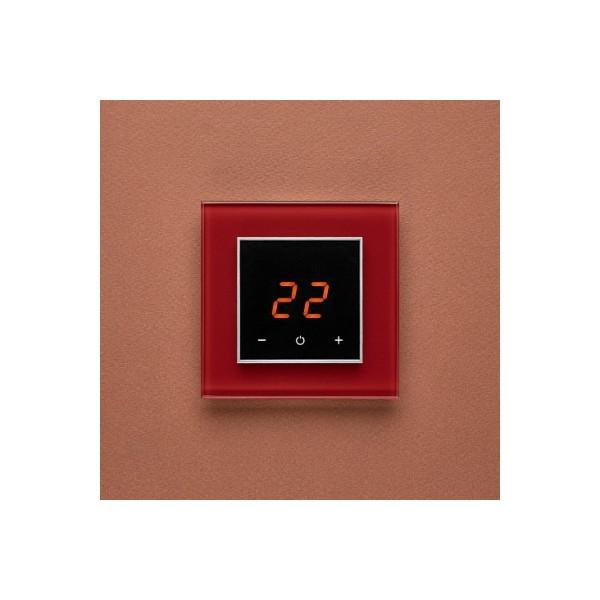 AURA ORTO 3004 RED DARK - сенсорный терморегулятор для теплого пола