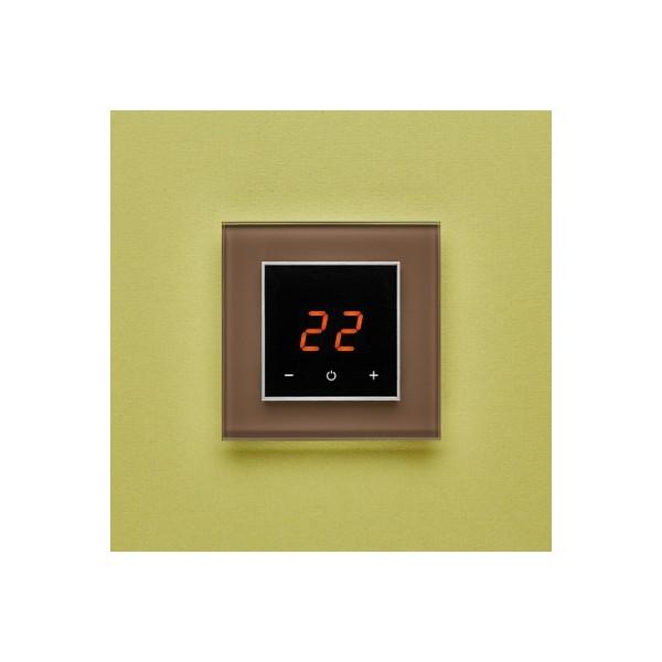 AURA ORTO 7013 BROWN NATURAL - сенсорный терморегулятор для теплого пола