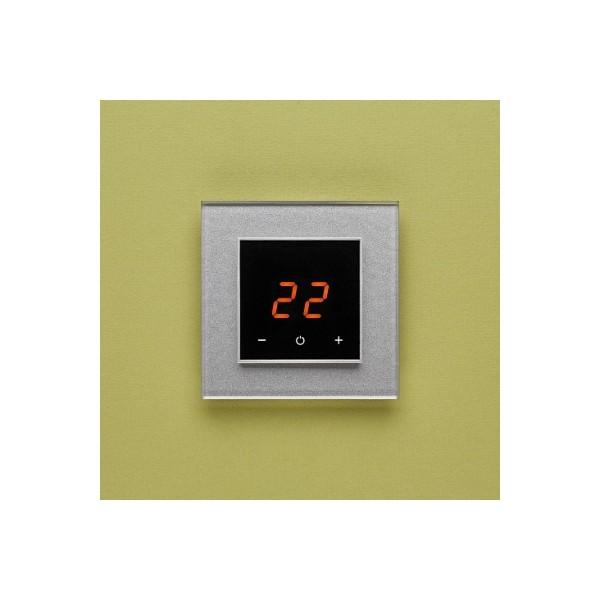 AURA ORTO 9007 ALUMINIUM RICH - сенсорный терморегулятор для теплого пола